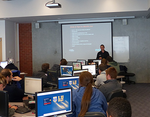 Lincoln university receiving Metrifit training