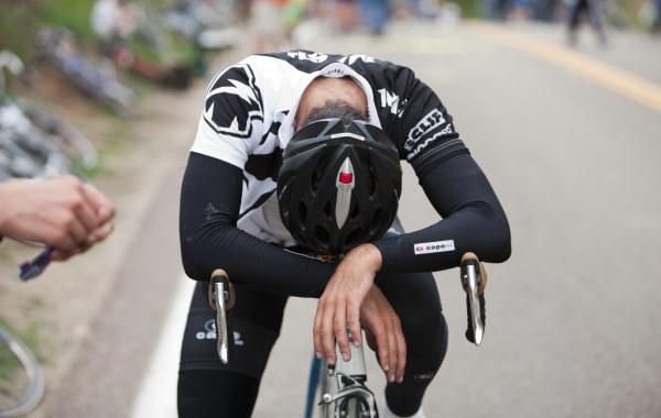 Fatigued Cyclist