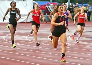 high school girls sprint track