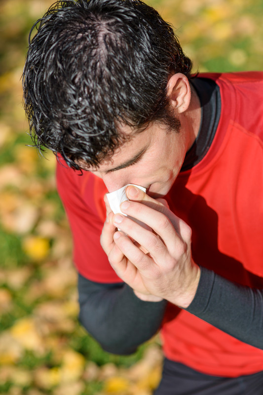Coughing Athlete